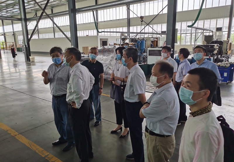 Vice Mayor of Ezhou to investigate and talk to our company